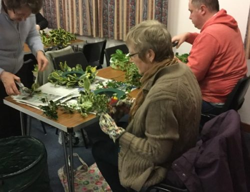 Wreath Making Raises £330 for Christian Aid